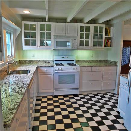 West Yarmouth Cape Cod vacation rental - The kitchen is pretty, functional and fully equipped.
