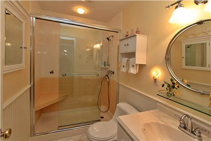 Brewster Cape Cod vacation rental - Downstairs bath has walk-in shower & seat - unique to Ocean Edge