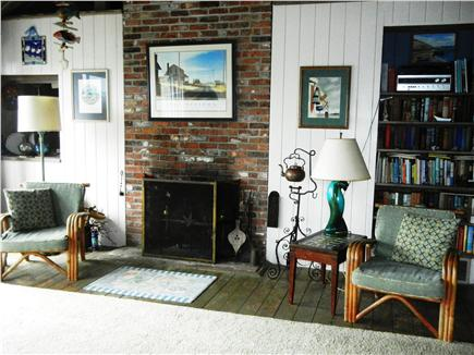 Orleans Cape Cod vacation rental - . . . and has a fireplace & plenty of books about Cape Cod