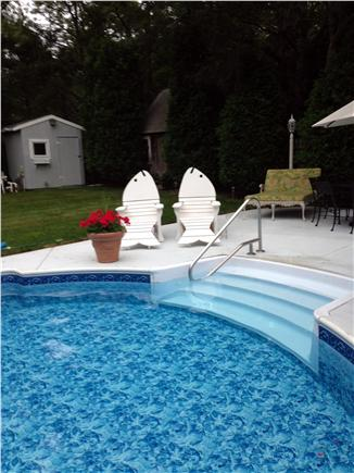 Sandwich Cape Cod vacation rental - Fish chairs, poolside.