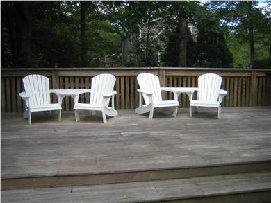 Sandwich Cape Cod vacation rental - Oversized deck.