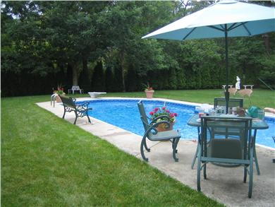 Sandwich Cape Cod vacation rental - View of pool from deck.