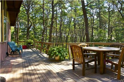 South Wellfleet Cape Cod vacation rental - Large deck with dining set