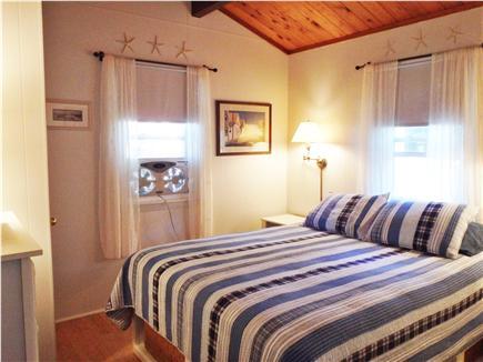 Wellfleet Cape Cod vacation rental - Queen bed with storage baskets underneath