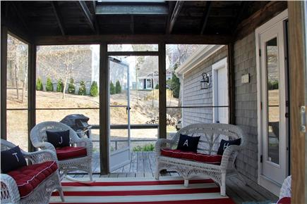 Mashpee Cape Cod vacation rental - Relax in the screened-in porch in a private back yard