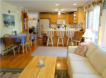 Chatham Cape Cod vacation rental - Open living space between Family Room and Kitchen