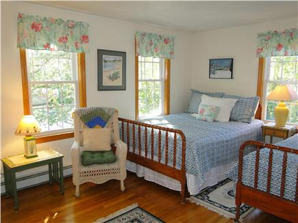 Chatham Cape Cod vacation rental - Upstairs bedroom with queen bed, one twin bed, TV & A/C