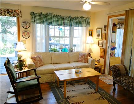 Chatham Cape Cod vacation rental - Family Room w/TV & celling fan