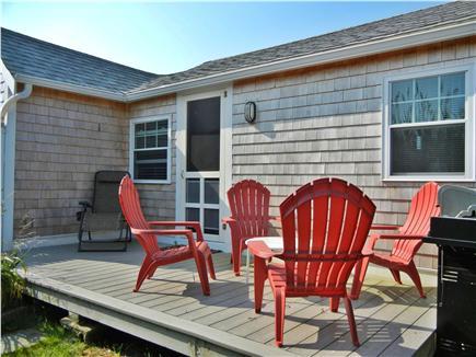 Wellfleet Cape Cod vacation rental - Back deck with Weber gas grill