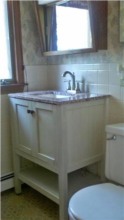 South Chatham Cape Cod vacation rental - First-floor half-bathroom and laundry