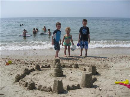 West Hyannisport Cape Cod vacation rental - This beach has the best castles built by fully-qualified experts
