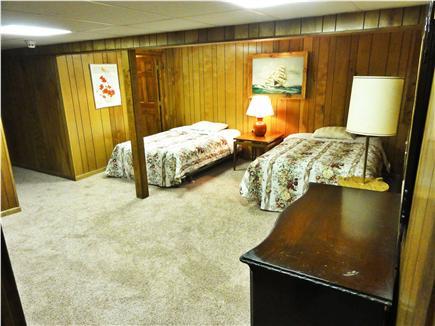 West Hyannisport Cape Cod vacation rental - Lower floor larger bedroom, two queens, bathroom with shower