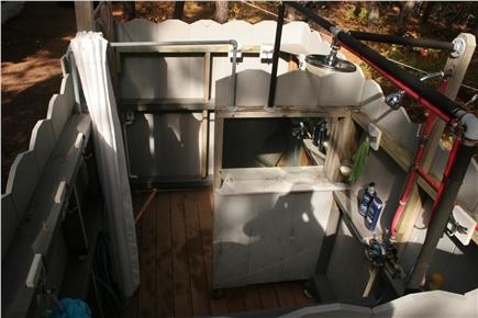 N.Truro Cape Cod vacation rental - Large Outdoor Shower...The BOMB!