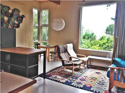 Wellfleet Cape Cod vacation rental - The dining area in the corner.