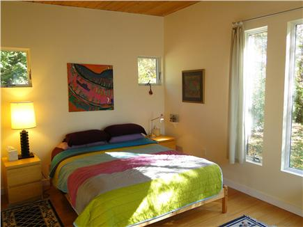 Wellfleet Cape Cod vacation rental - Queen bed in guest house, adjacent bathroom