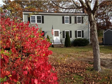 Hyannis Cape Cod vacation rental - Front view of home on quiet cul-de-sac