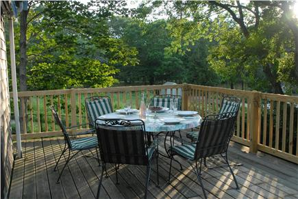 Orleans Cape Cod vacation rental - Evening on the upper deck