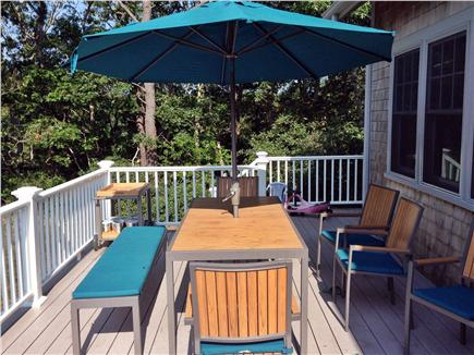 Wellfleet Cape Cod vacation rental - Dining on the deck is a must!