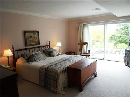 Falmouth, Woods Hole/Sippewissett Cape Cod vacation rental - The master bedroom with full bath opens directly to the patio