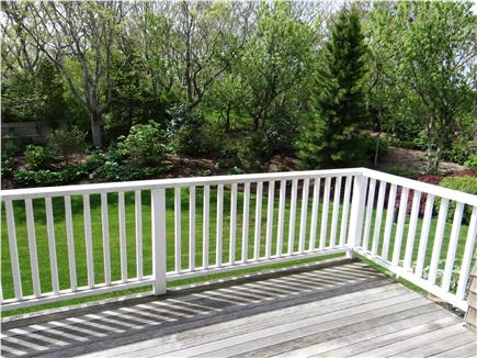 Falmouth, Woods Hole/Sippewissett Cape Cod vacation rental - View over the backyard from the rear entrance/deck