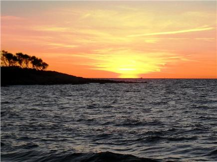 Falmouth, Woods Hole/Sippewissett Cape Cod vacation rental - Sit on an inviting bench and enjoy the sunset over the bay...