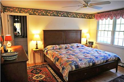 Dennis Village Cape Cod vacation rental - 1st-floor master with king Sleep Number bed and bath with jacuzzi