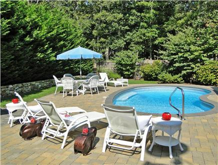Dennis Village Cape Cod vacation rental - Private backyard with inground heated pool and outdoor shower