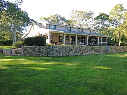 Hyannisport Cape Cod vacation rental - Large deck and screened porch overlooking spacious back yard