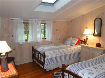 Hyannisport Cape Cod vacation rental - Second twin bedroom upstairs with skylight