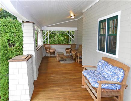Hyannisport Cape Cod vacation rental - Front porch seating area