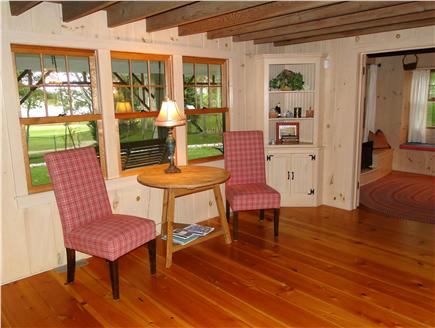 Hyannisport Cape Cod vacation rental - Sitting area adjacent to living room and family room