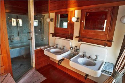 Woods Hole Woods Hole vacation rental - Marble bathroom with historic bathtub