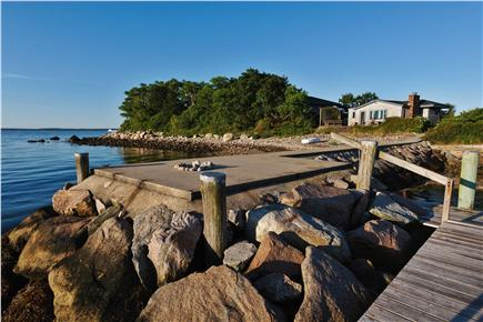 Woods Hole Woods Hole vacation rental - Cottage of Airplane House property, jetty and pebble beach