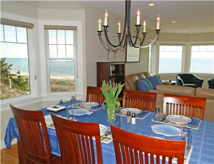 West Yarmouth Cape Cod vacation rental - Dining area located in between kitchen and living room, seats 8