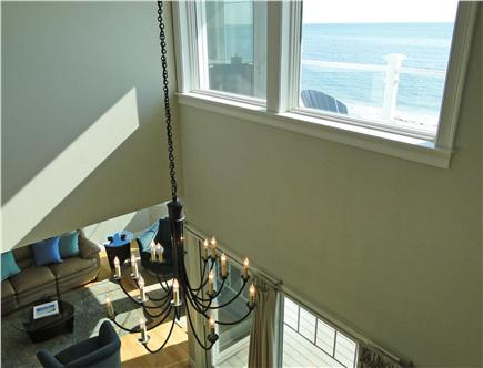 West Yarmouth Cape Cod vacation rental - View from balcony – looking out to ocean, down to living room