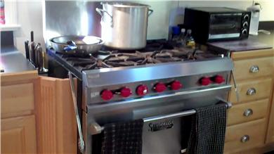 Mashpee Cape Cod vacation rental - Commercial stove in gourmet kitchen
