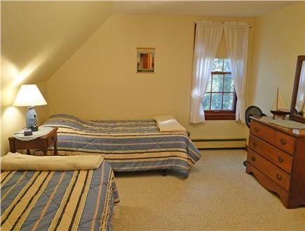 Brewster Cape Cod vacation rental - Third bedroom upstairs, with two twins