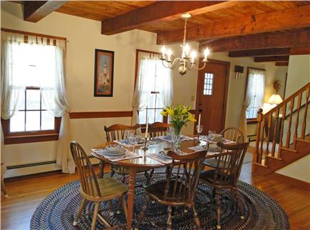 Brewster Cape Cod vacation rental - Dining room adjacent to kitchen, seating for 8