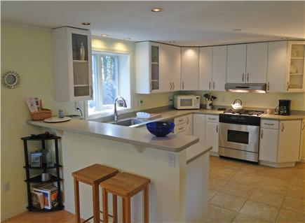 Chatham Cape Cod vacation rental - Modern kitchen with new appliances and breakfast bar