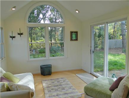 Chatham Cape Cod vacation rental - Our favorite room: the sun room with slider to back patio