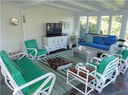 E. Dennis Cape Cod vacation rental - Spectacular sunroom with flat screen TV