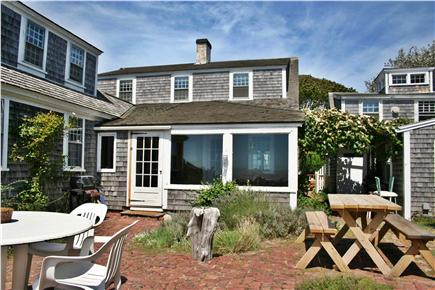 Harwich Port Cape Cod vacation rental - Private brick patio on coastal bluff overlooking the ocean