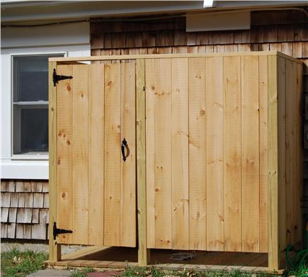 Chatham Cape Cod vacation rental - The outdoor shower is big enough for two!