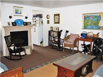 Eastham Cape Cod vacation rental - Gas fireplaced living room