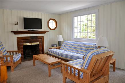 Chatham Cape Cod vacation rental - Living room with flat-panel TV & cable.