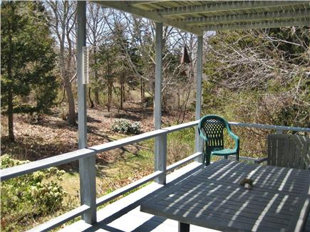 Orleans Cape Cod vacation rental - Another view of side deck;  grill and outdoor shower out back.