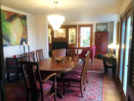 West Falmouth Cape Cod vacation rental - Open dining room, seats 8