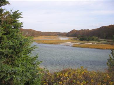 West Falmouth Cape Cod vacation rental - Old Silver Beach estuary behind the home