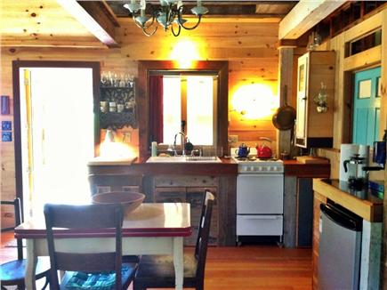 North Eastham Cape Cod vacation rental - Kitchen looking towards side exit