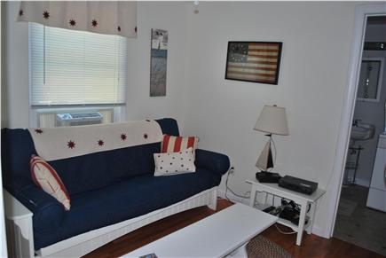 East Falmouth Cape Cod vacation rental - Small downstairs den with cable TV next to full bath w| wash/dry.